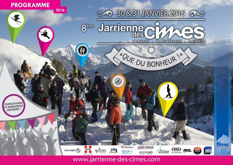 Programme Jarrienne des Cimes 2016