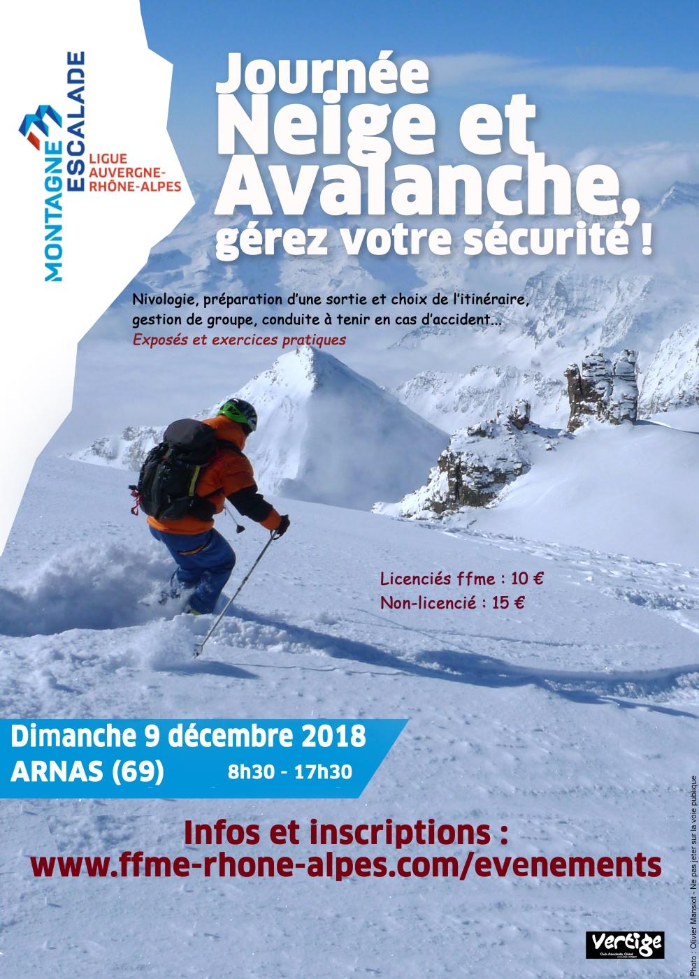 2018 neige avalanche ARNAS