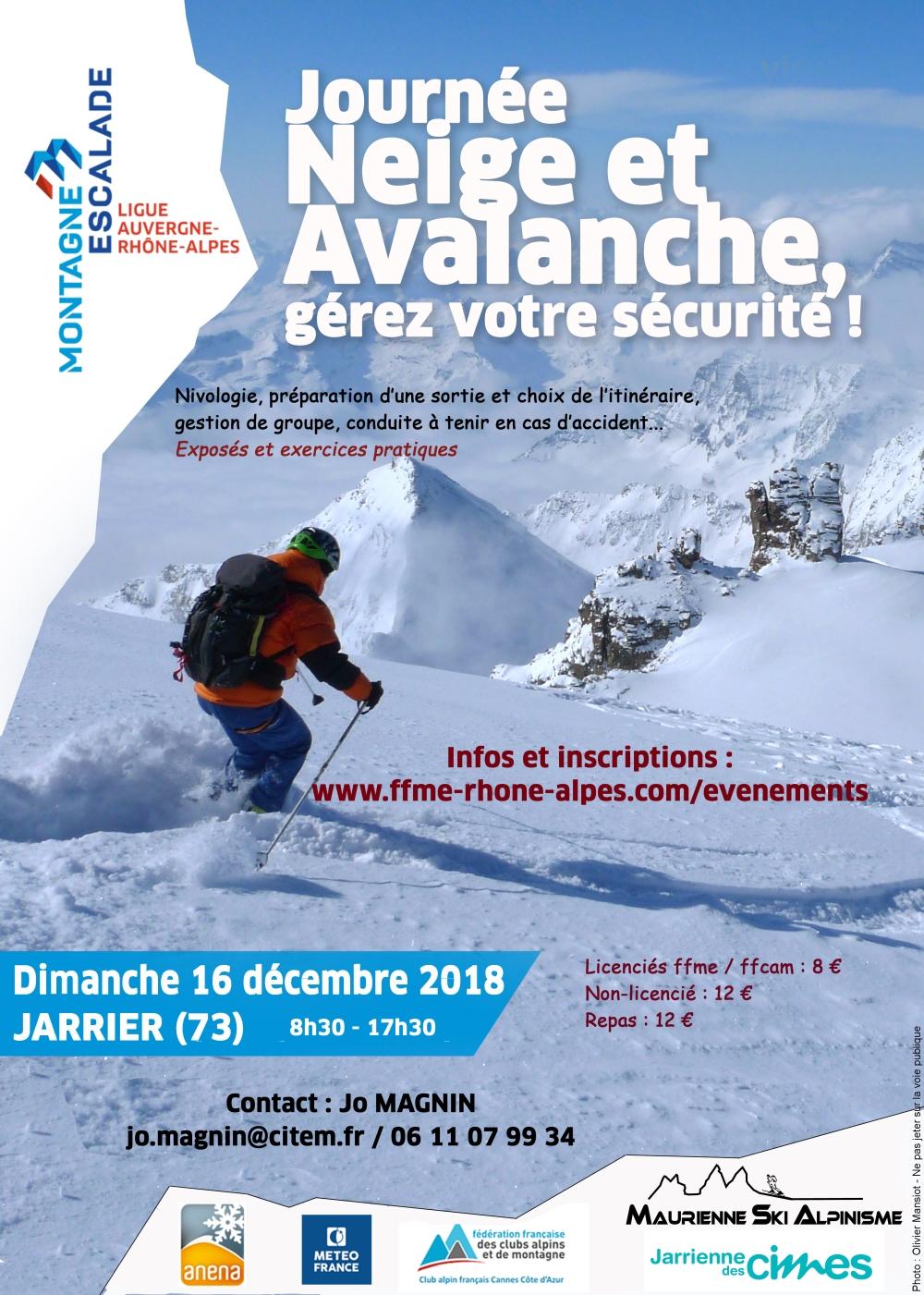 2018 neige avalanche JARRIER